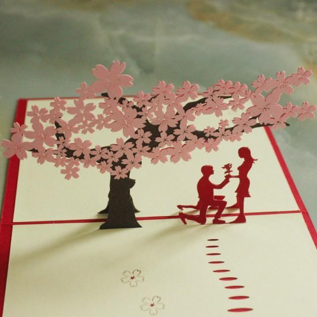 Pop Up Wedding Card Love You Valentines Day Girls Gift