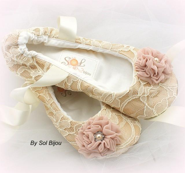 35b65616bec3c Ballet Flats, Champagne, Ivory, Blush, Wedding Shoes, Bridal, Flats ...