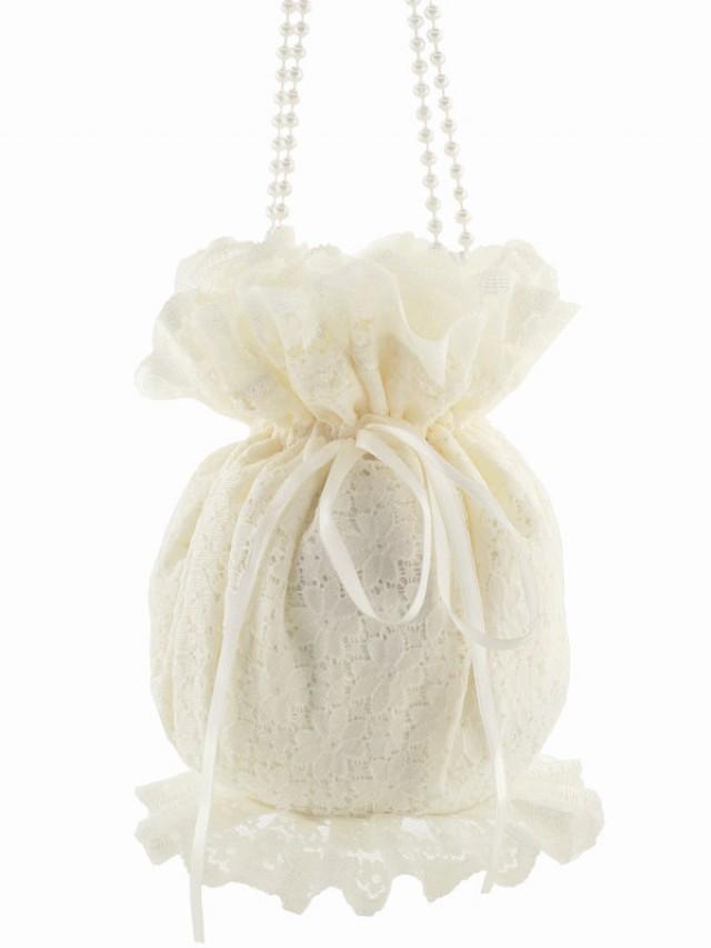 Bride Wristlets Bag, Bridal Ivory Lace Clutch Bag, Wedding ...