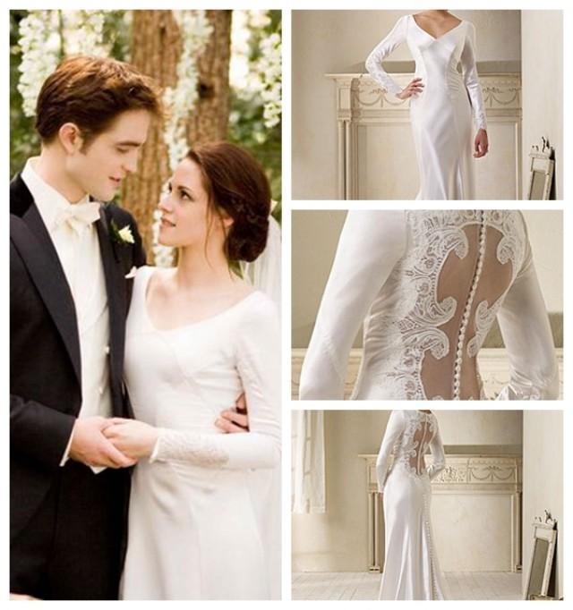 Long Sleeves On Cut Out Back Lace Embellishments Wedding Dress 2451080 Weddbook