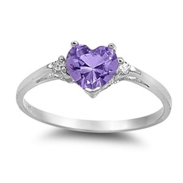 Amethyst Promise Ring Set
