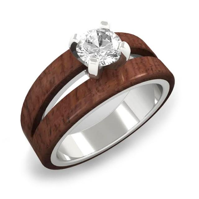 the simply wood and wooden ring hackberry rings rosewood