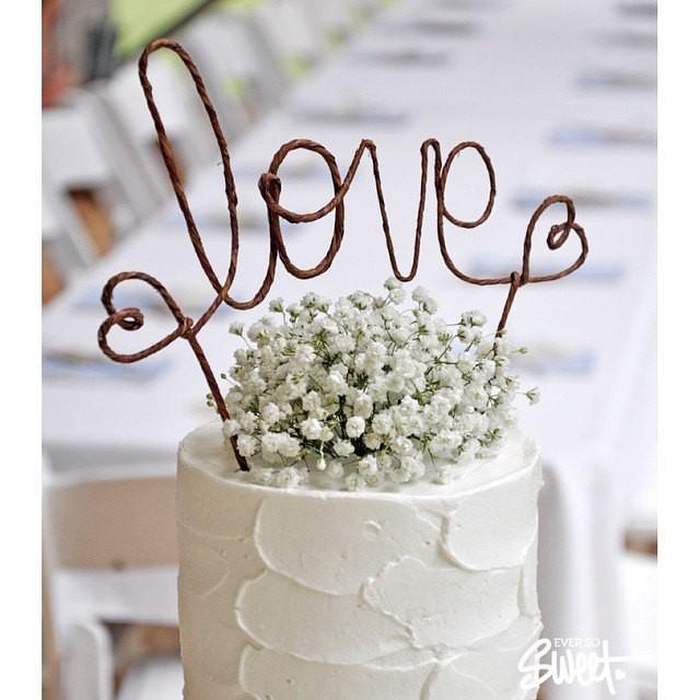 LOVE Rustic Wedding Cake Topper Banner - Rustic Wedding Cake ...
