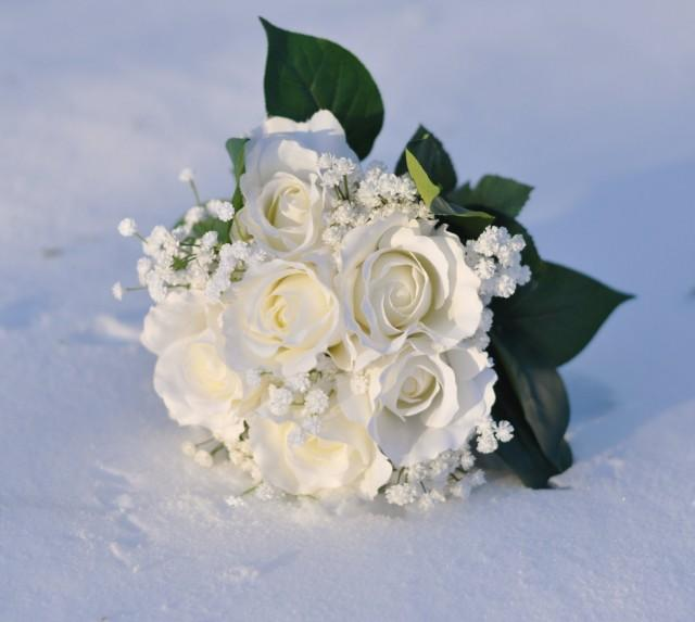 White Flower Wedding Bouquets: Wedding Flowers, Wedding Bouquet, Keepsake, Bridal Bouquet