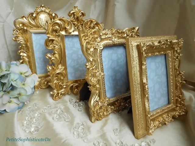 New 4 Brilliant Gold Ornate Frames French Baroque Wedding