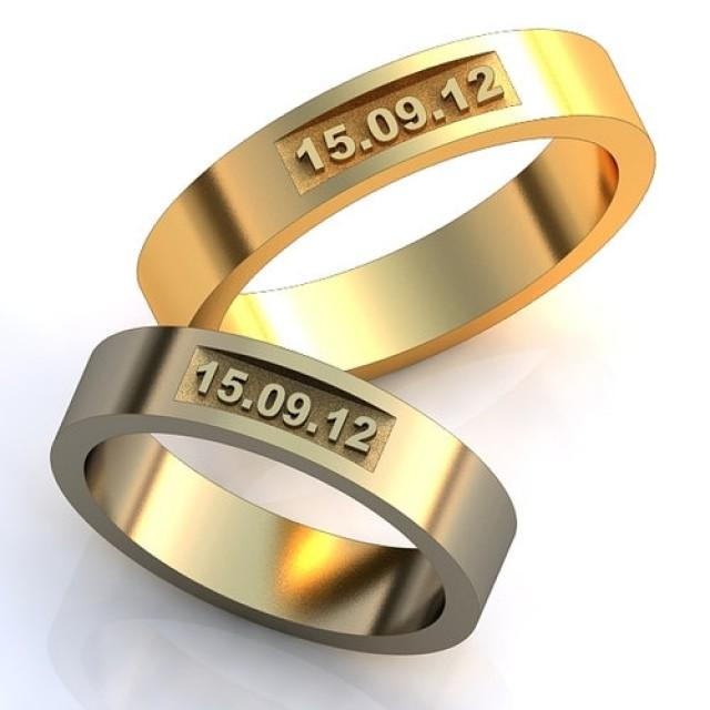 Wedding Date Rings, Unique Design Wedding Bands, Wedding Rings Set ...