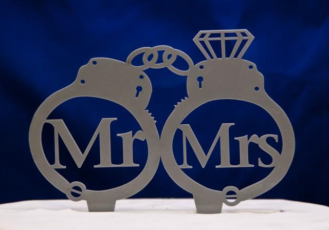 Handcuff Wedding Cake Toppers