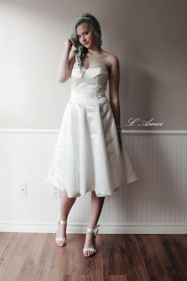 An Exquisitely Gorgeous Vintage Style Tea Length Formal