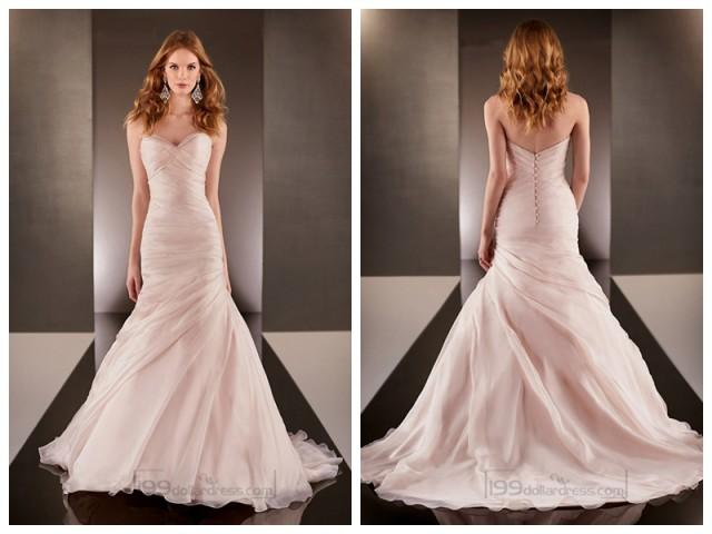 Fit And Flare Cross Sweetheart Neckline Ruched Bodice Wedding Dresses 2454487