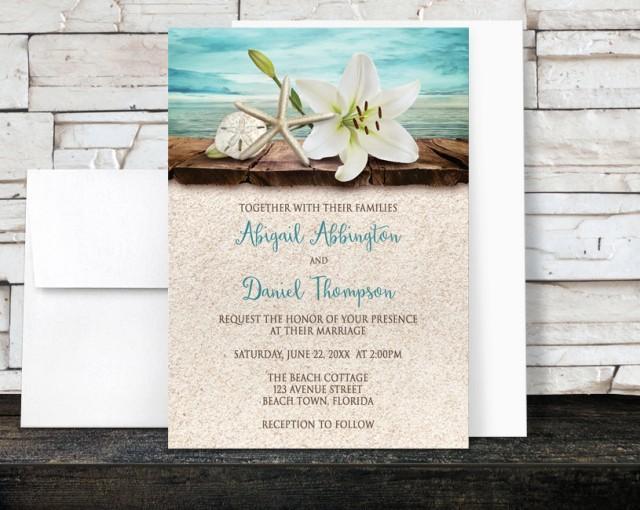 Beach Wedding Invitations And RSVP