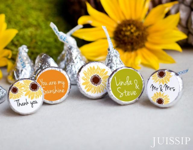 printed personalized hershey kiss sticker hershey kiss label bridal shower fall wedding sunflower favor ready to use southern weddingyellow 2455941