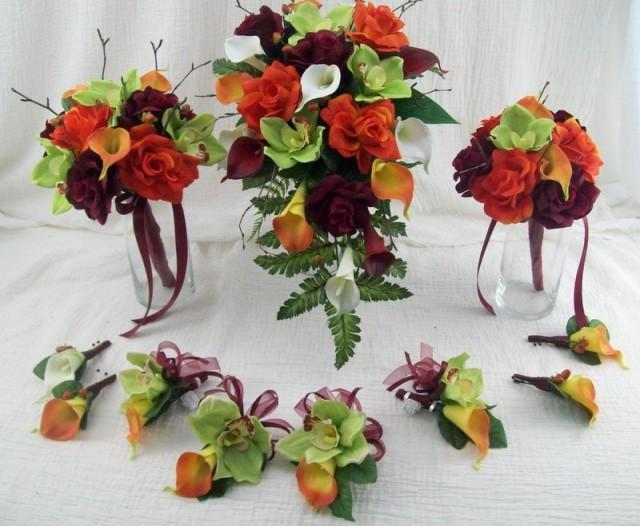 Fall Wedding Flowers Destination Wedding Cascade Bridal