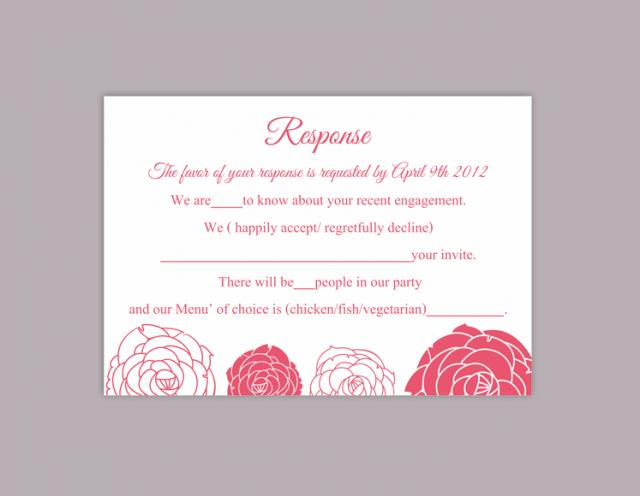 diy wedding rsvp template editable word file download rsvp