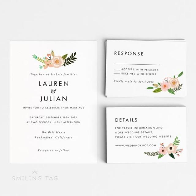 Size Wedding Invitation: Printable Wedding Invitation Set