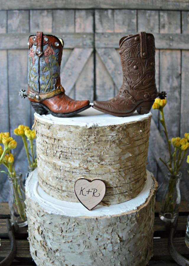 Western Bride And Groom Wedding Cake Topper Western