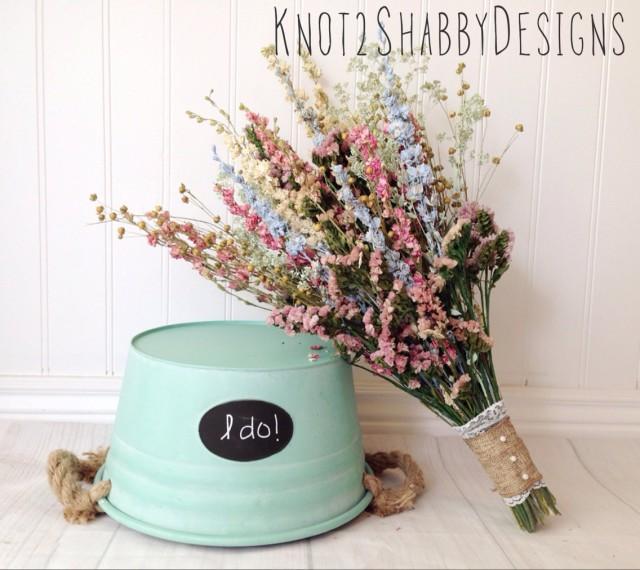 Wedding - Dried Bridal Bouquet - Shabby Chic Wedding - Dried Flowers ...