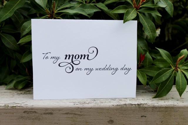 To My Mom On My Wedding Day Printable Diy Mother Of The