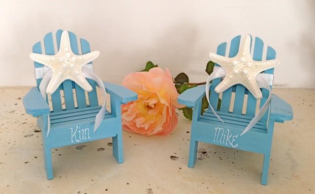 Beach Adirondack Chairs Cake Topper