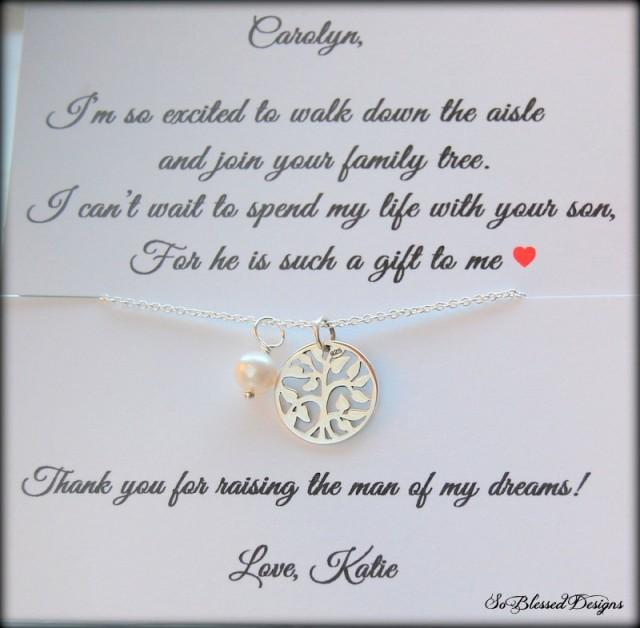 mother of the groom gift from bride mother of groom necklace