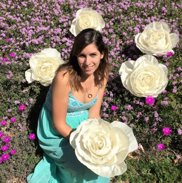 5 Giant Crepe Paper Flowers Large 11 Inch Paper Roses Oversize