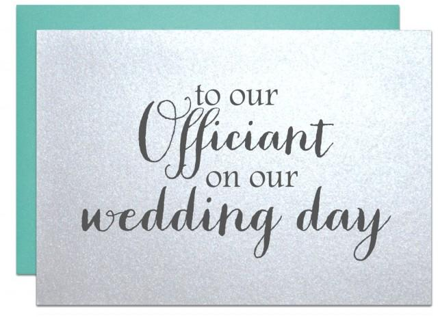 Wedding Officiant Card, Thank You Card To Reverend Priest ...