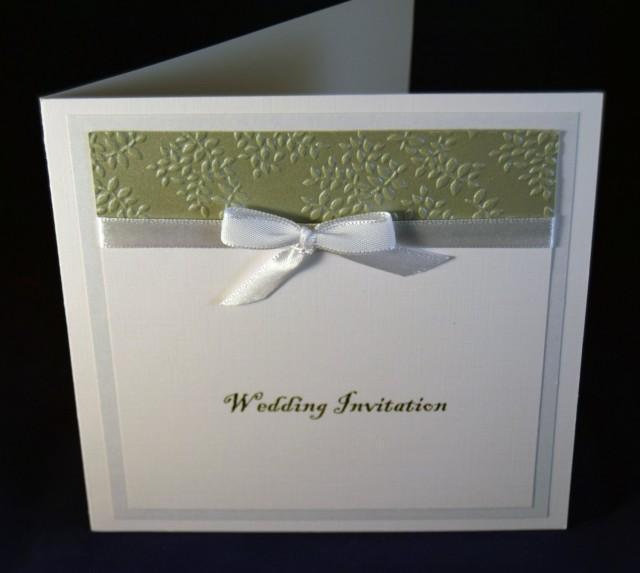 Wedding Invitation, Bespoke Handcrafted Wedding Invitation ...