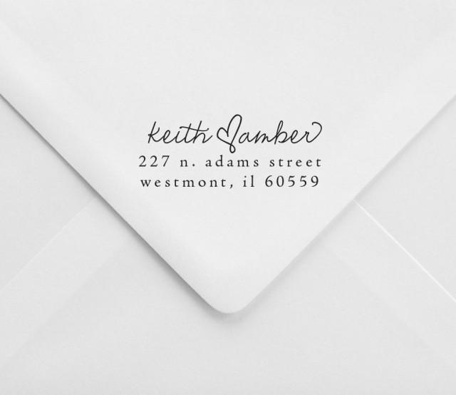 Wedding Return Address Stamp - Great For Invitations And Holiday ...