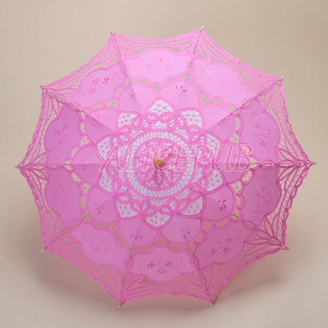 54b8bf4bc4d2 Lace Wedding Umbrella, Handmade Pink Lace Parasol, Bridal Umbrella ...
