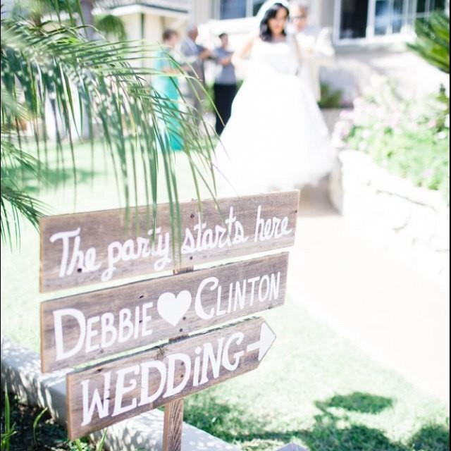 Large Wedding Sign Welcome Sign With Names And Arrow
