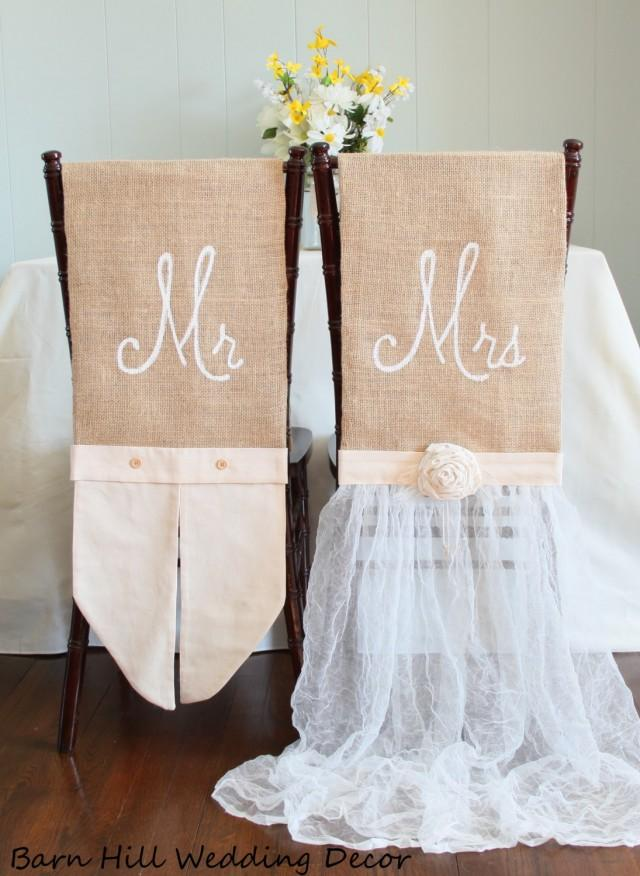 Wedding Chair Covers Rustic Country Formal Wedding Chair