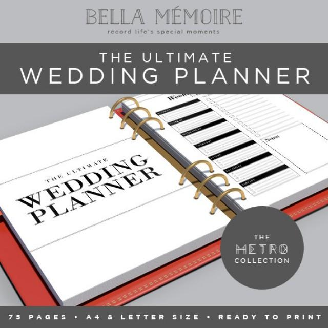 Printable Wedding Planner Metro Collection Instant Organiser Diy To Do List 75 Pages 2461382 Weddbook