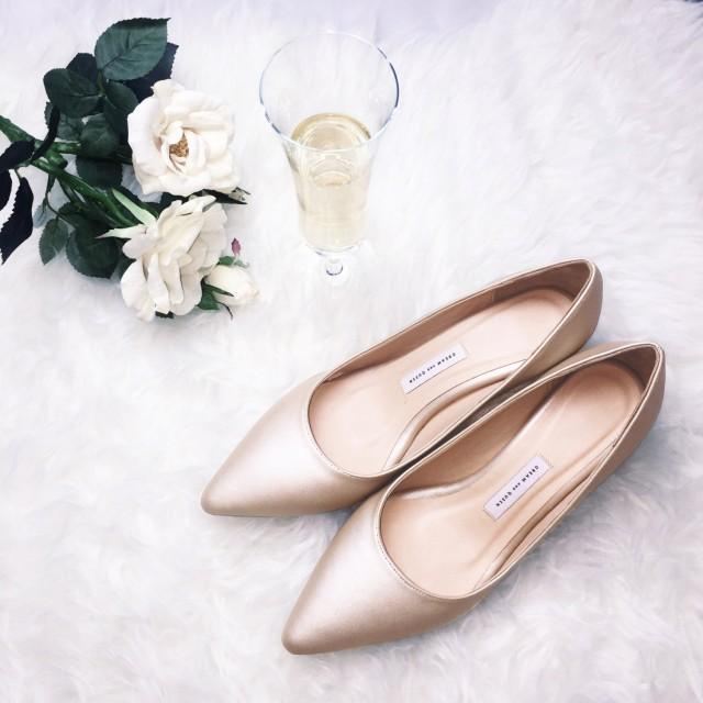 Gold High Heel Bridesmaid Name Champagne Party Wedding: Low Heel Wedding Shoes ,wedding Shoes,womens Shoes,bridal