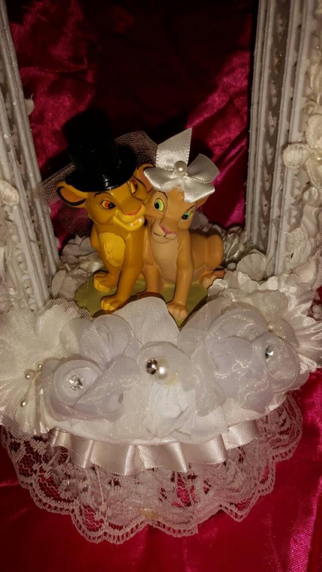 LION KING Wedding Cake Topper Young Simba Nala 2461501 Weddbook - Lion King Wedding Cake