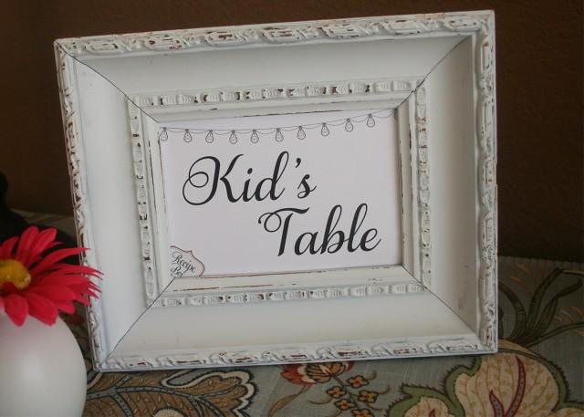 Kid S Table Wedding Sign Kids Activity Table Reception