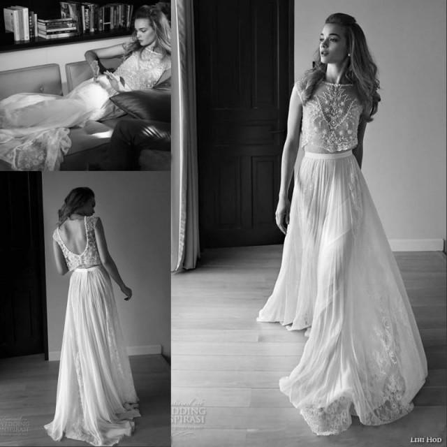2015 Lace Vintage Wedding Dresses Beach Bohemian Boho Plus