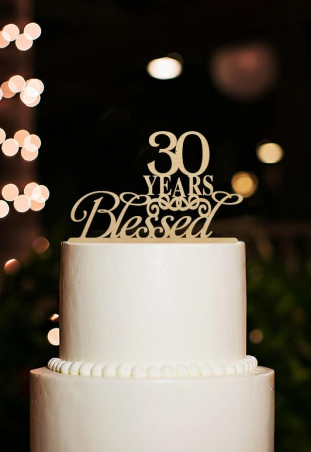 30 years blessed cake topper 30th birthday cake topper 30 for 30 cake decoration