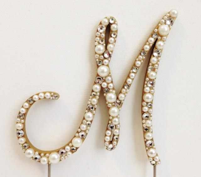 Rhinestone Letters For Cake Toppers