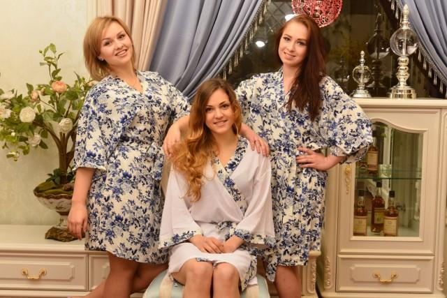 White Bride Robe Cotton Bridal Shower Gift For Maid Of Honor Present Bridesmaids Robes Dressing Gown Not Silk C00192 2464300 Weddbook