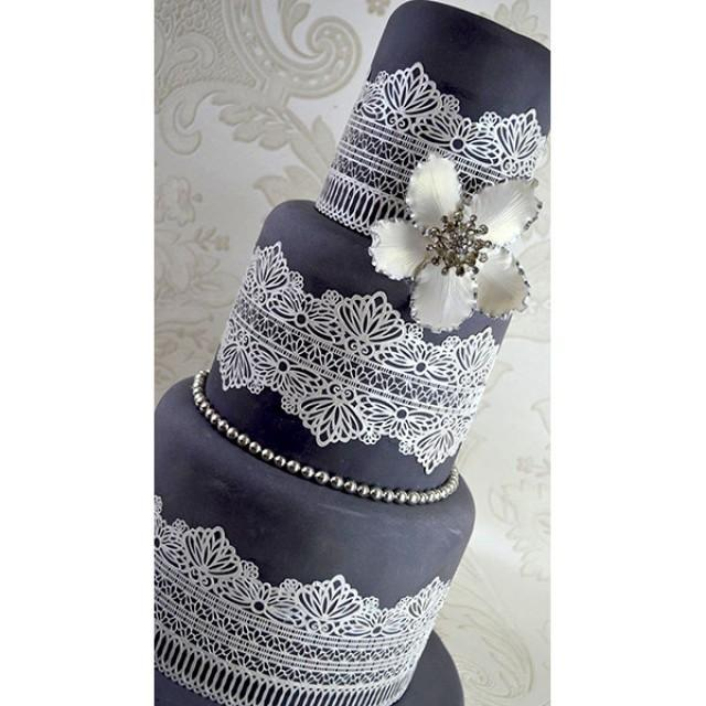 detailed decorative edible cake lace wedding decoration celebration