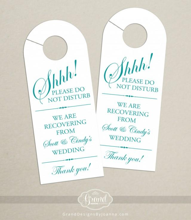 Set Of 10 - Door Hanger For Wedding Hotel Welcome Bag - Do Not