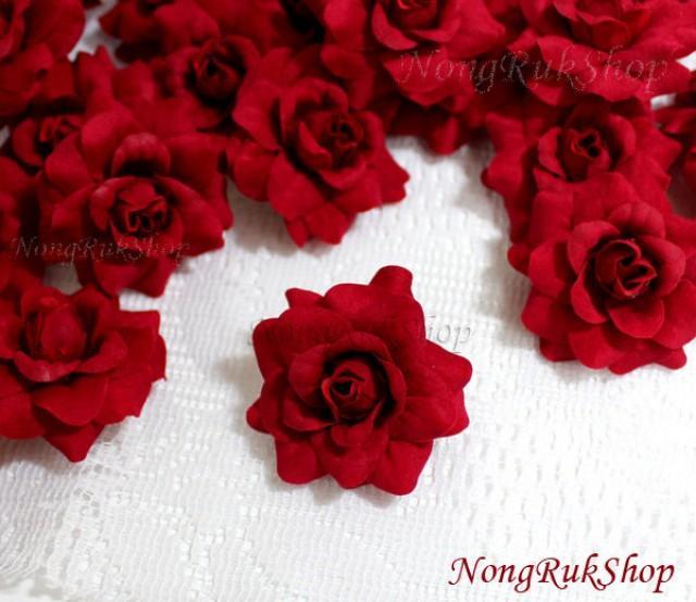 24 red roses artificial silk flower heads for wedding bridal hair 24 red roses artificial silk flower heads for wedding bridal hair clip bag shue decorate 2465472 weddbook mightylinksfo