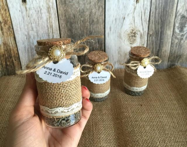 Rustic Wedding Favors Lavender Filled Burlap And Lace
