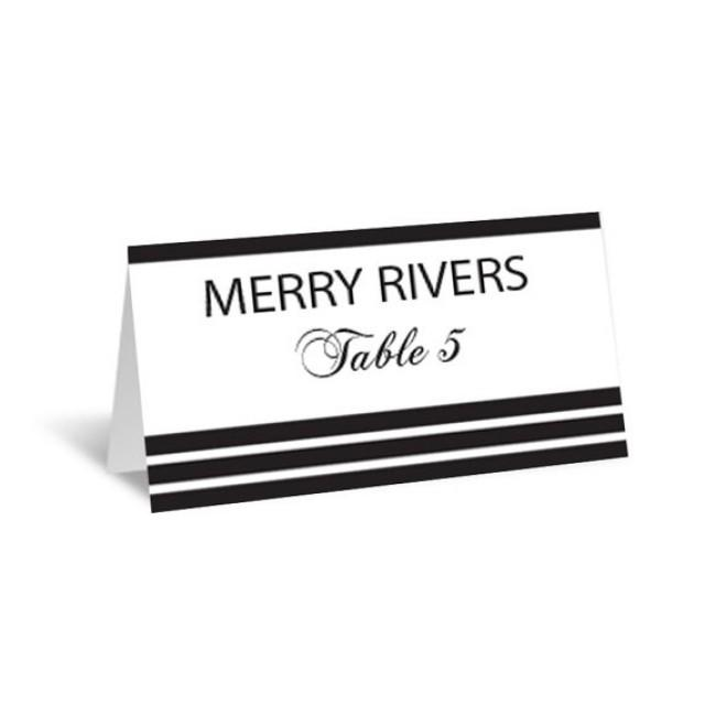 Folded Place Card Template  BesikEightyCo