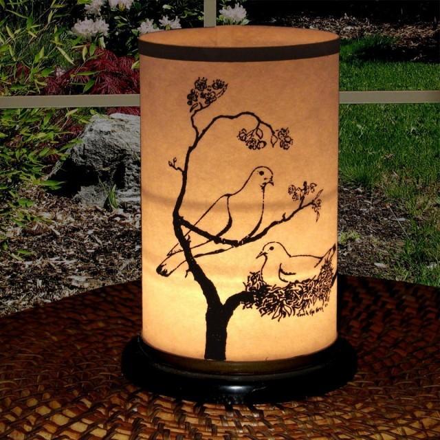 Handmade Candle Stand Designs : Candle holder wedding shoji lantern dove design