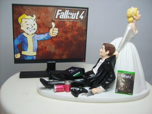 Funny Wedding Cake Topper Computer