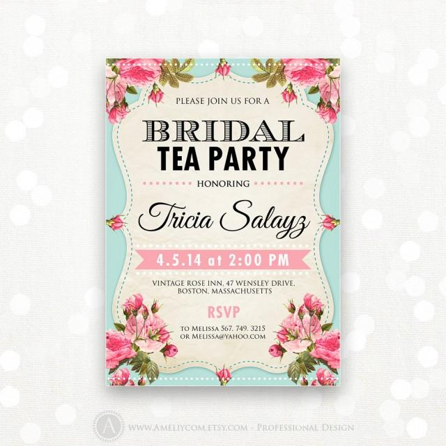 Wedding Shower Flyer. Printable Bridal Shower Invitation ...