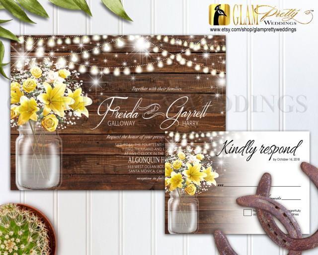 country rustic outdoor wedding invitation  u0026 rsvp card
