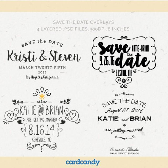 Digital Save The Date Overlays  Wedding Photo Card Overlays