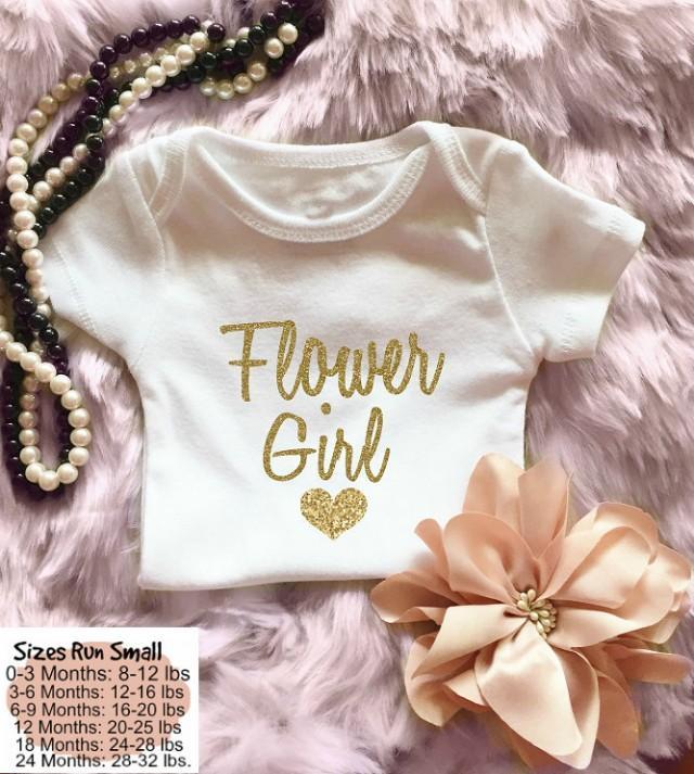 Flower girl gold flower girl outfit flower girl onesie for Baby jewelry near me