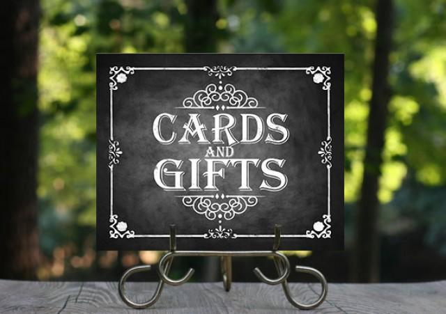 Printable Chalkboard Wedding Cards Gifts Sign Wedding Gifts Cards
